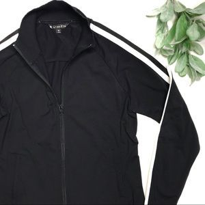 ATHLETA | sz M black Circa track jacket
